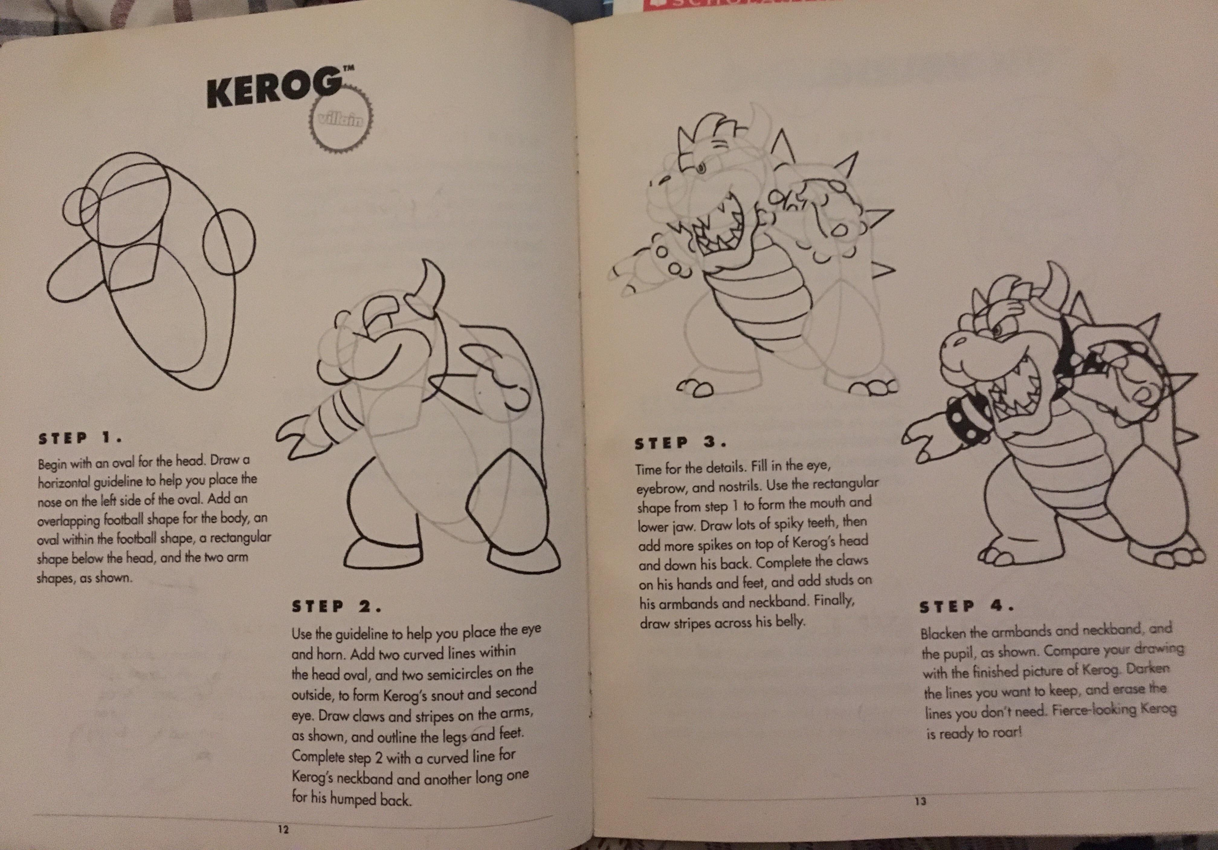 This Old How To Draw Nintendo Heroes And Villains Book I Got In