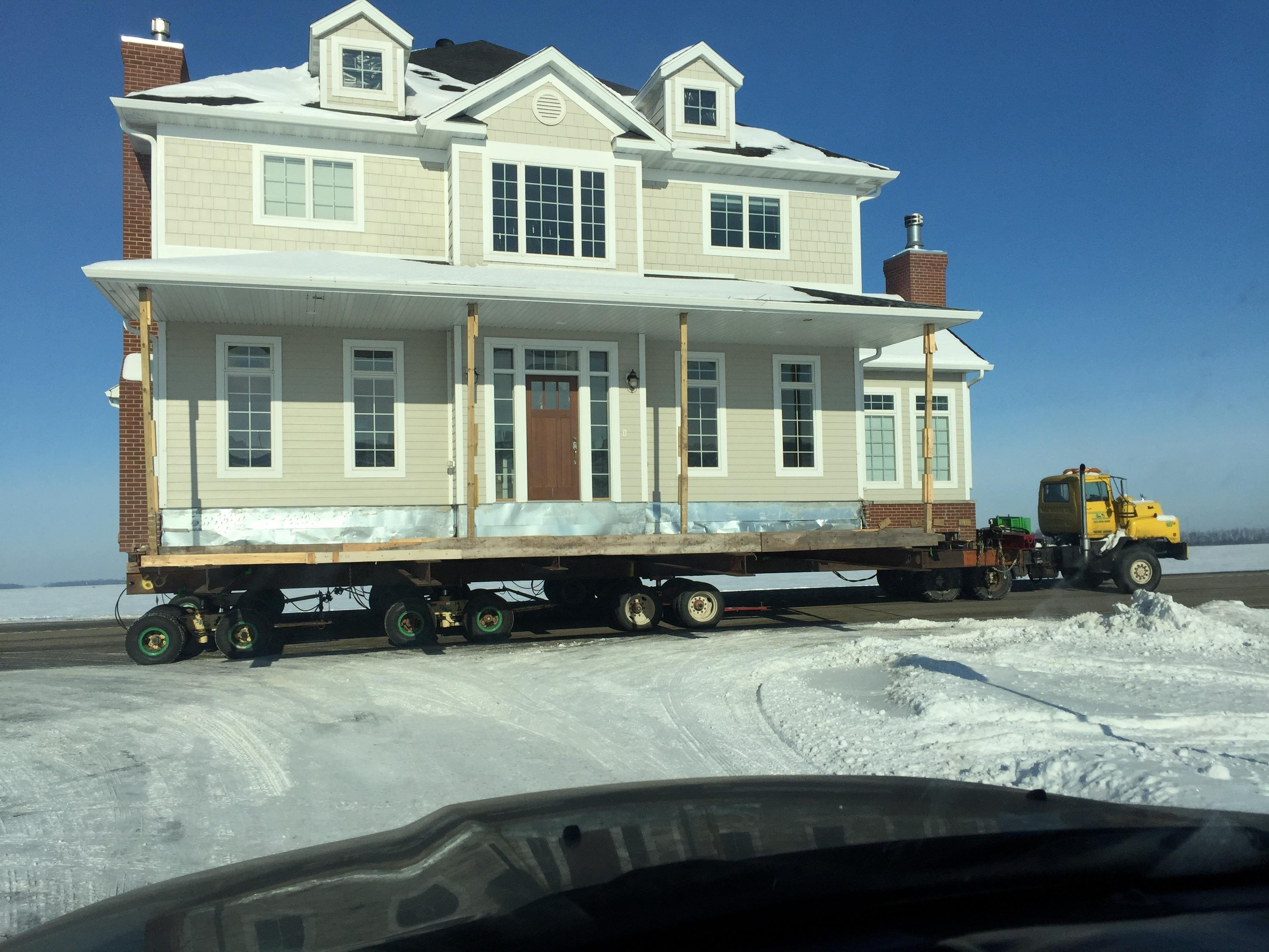 Moving a house to a new location put me like for Moving to new house