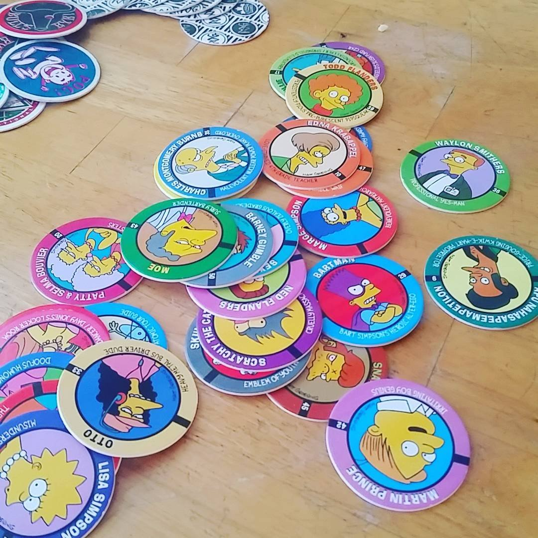 PUT ME LIKE · Picture of some Simpson Pogs I found while cleaning ...