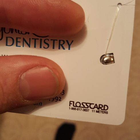 Put me like found this business card at the liquor store memes this dentist offices business card has 11m of floss built in funny pictures colourmoves