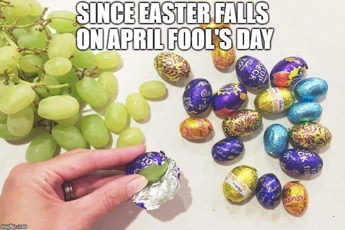 Image result for easter on april fools day