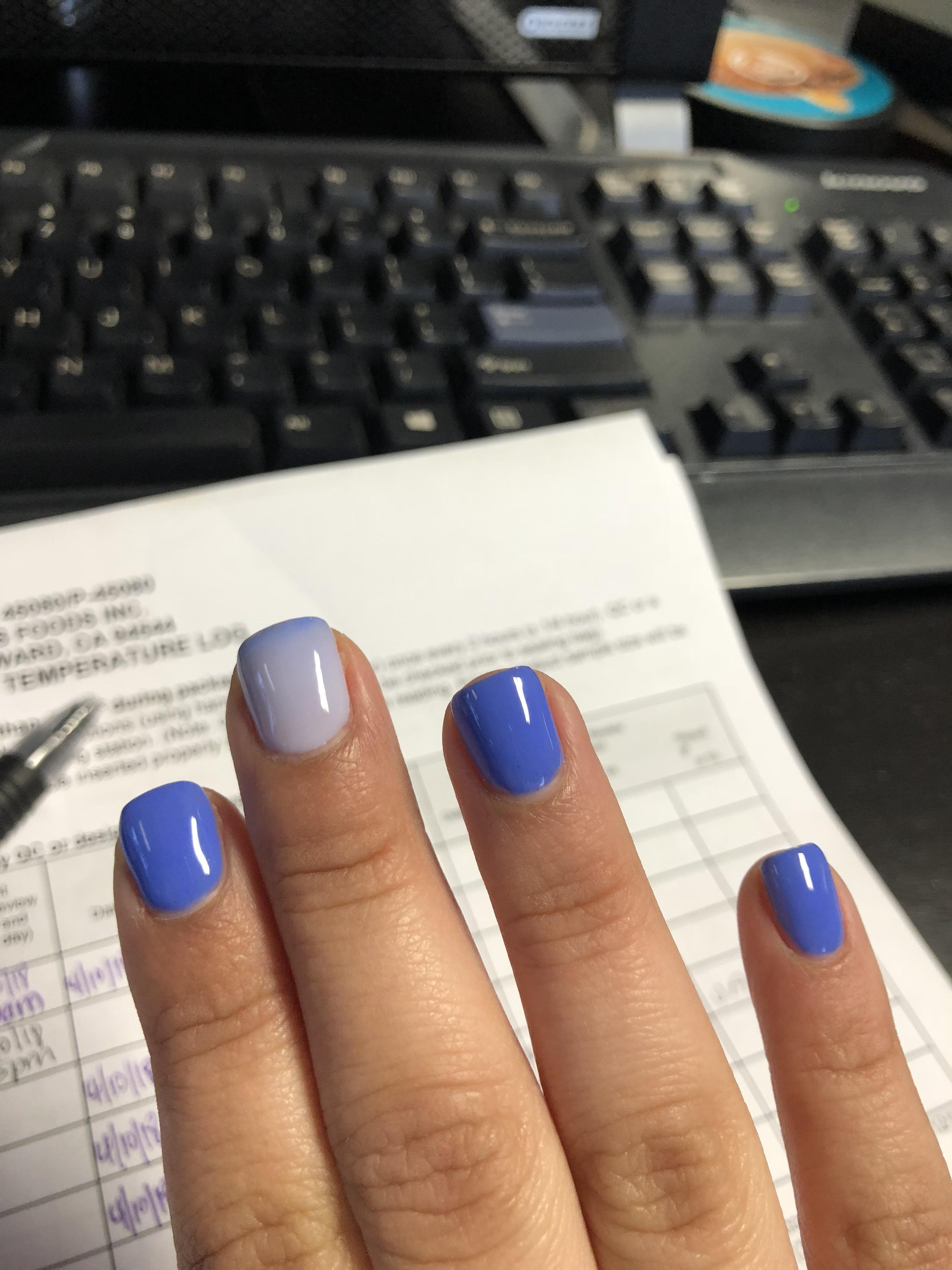 PUT ME LIKE · My nail polish changes colors with different ...