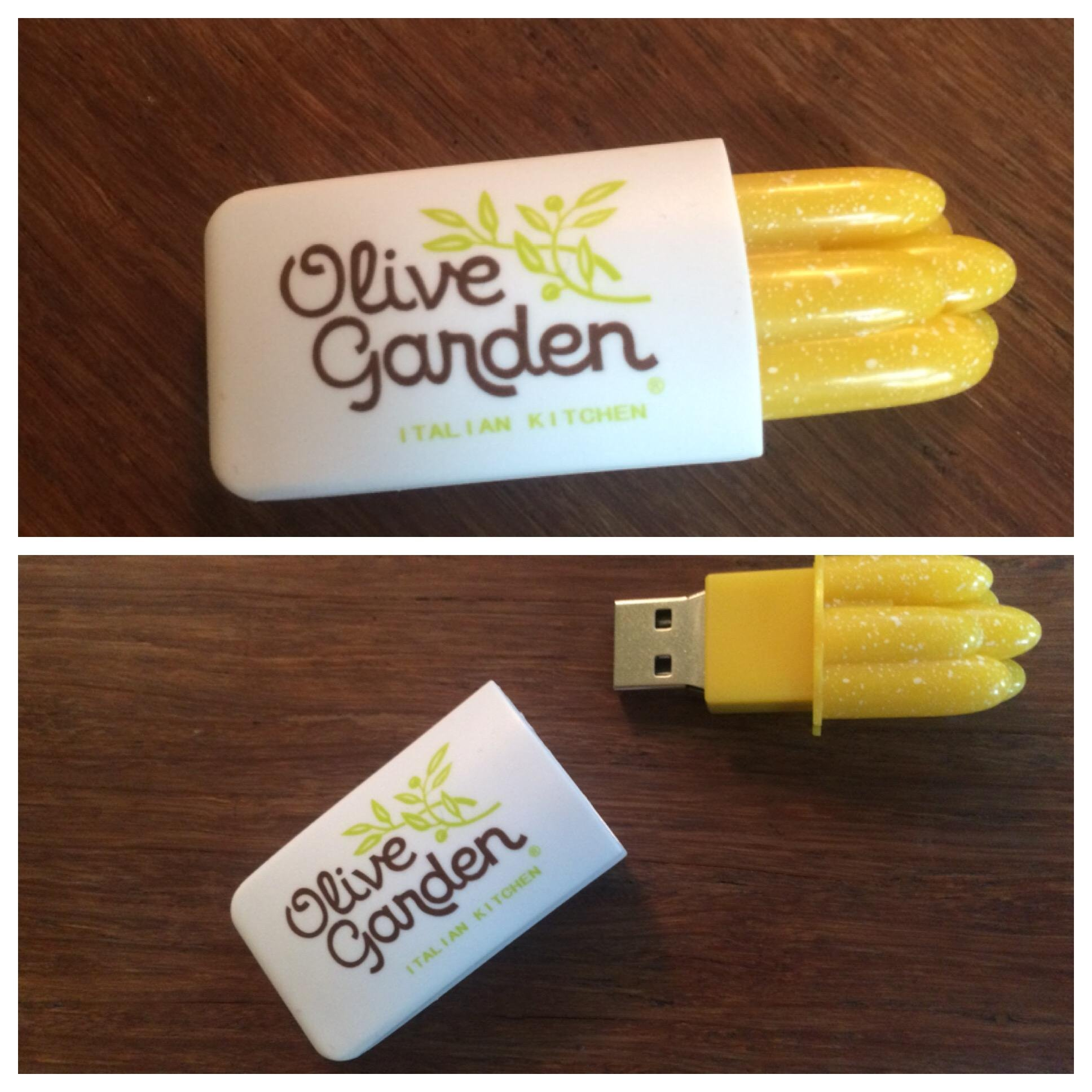 Olive Garden delivered this USB to our office today. – PUT ME LIKE