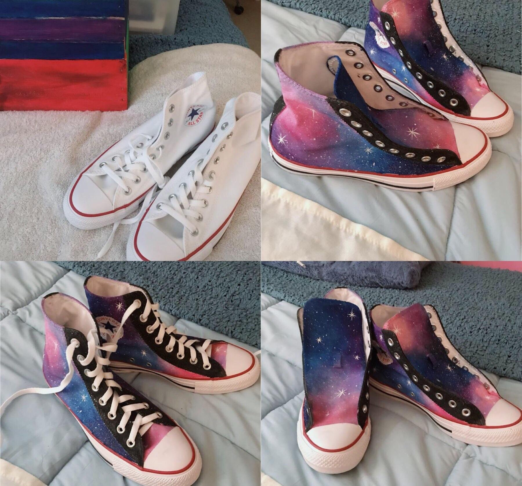 7b1726b0be64 Memes a pair of painted converse sister worked very hard on funny pictures  converse jpg 1800x1676