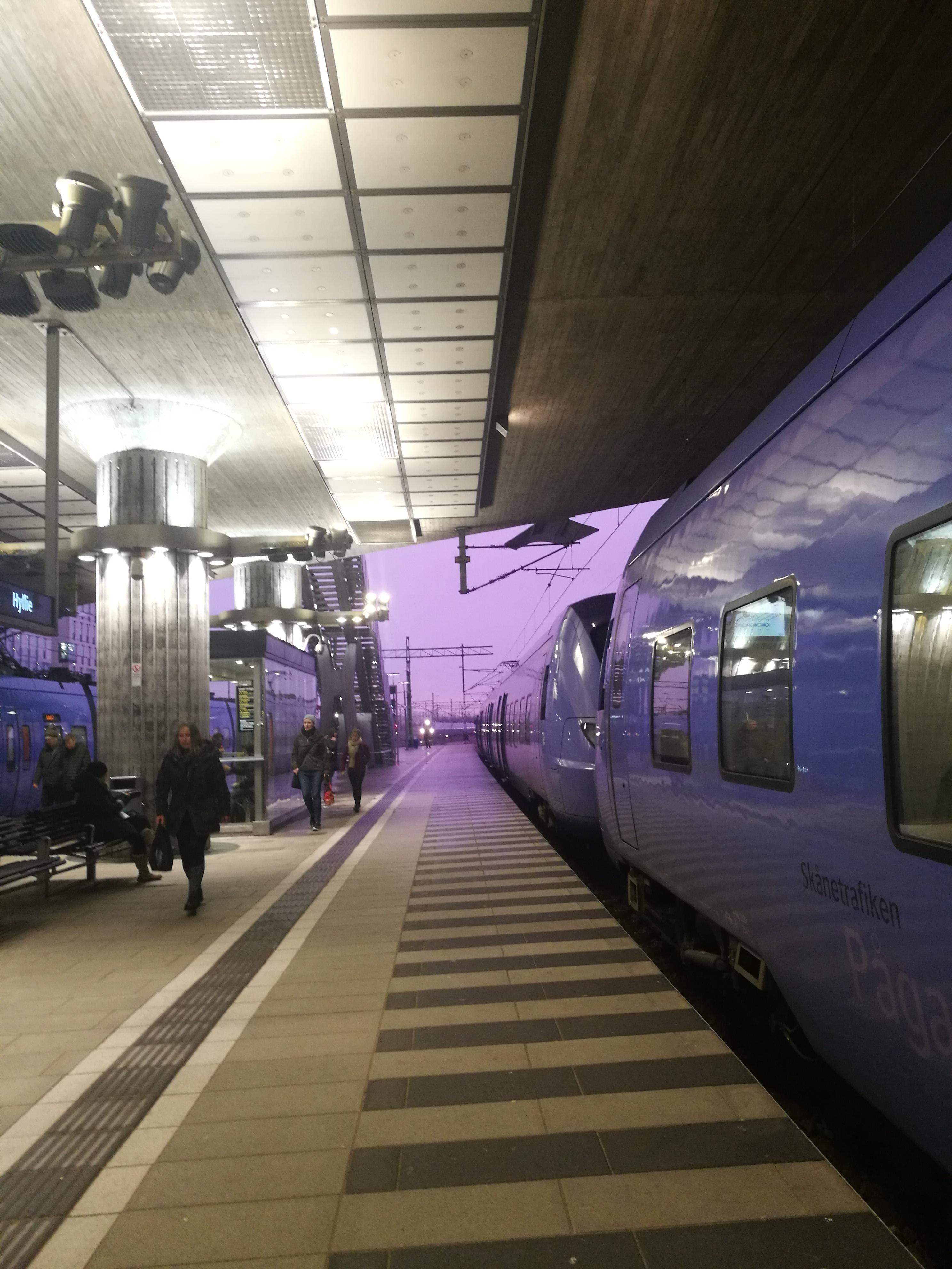 A couple of weeks ago the sky was more purple than I'd ever experienced in my life (it also matched the local trains).